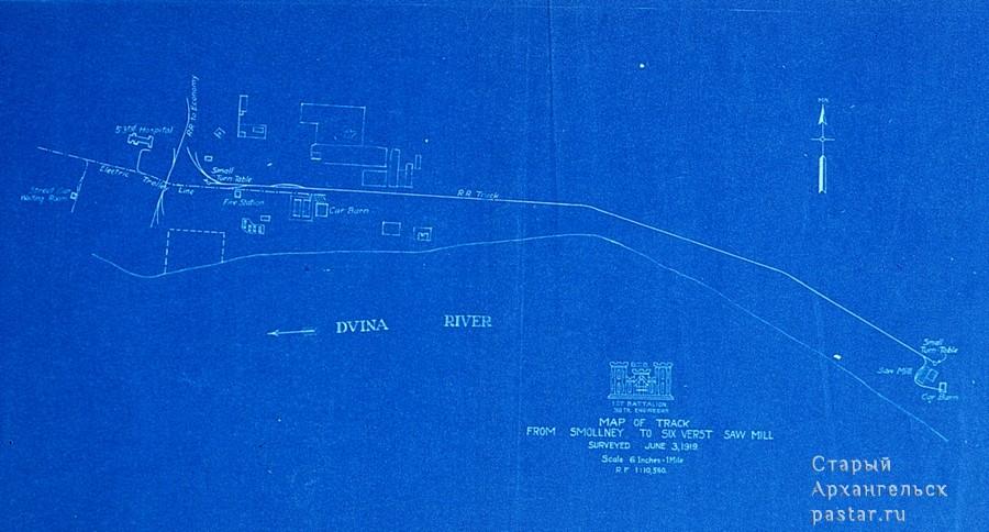 Карта от Смольного Буяна до лесозавода Шестая верста